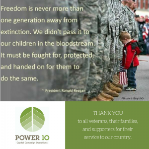 Veterans Day - POWER 10 Capital Campaigns